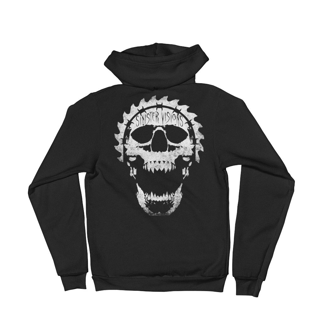 Sinister Visions Screaming Skull Hoodie sweater