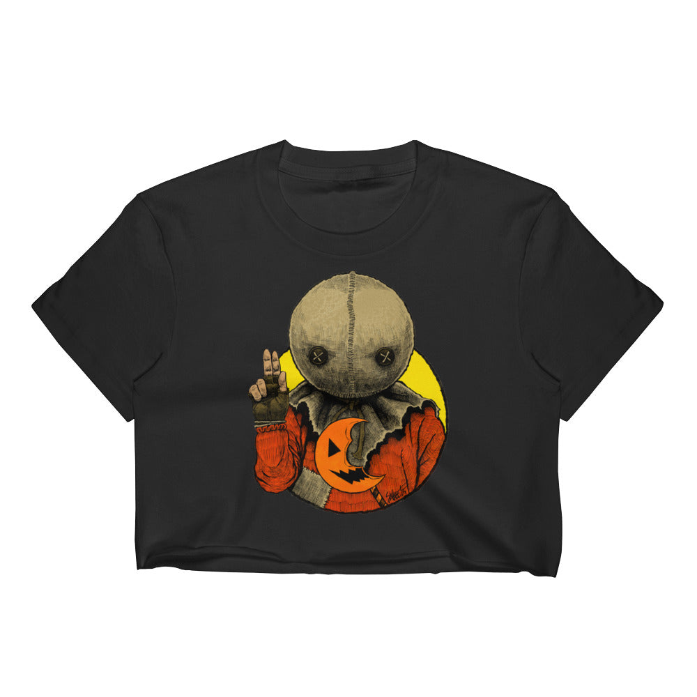 Halloween Saints - ALT - Sam Women's Crop Top