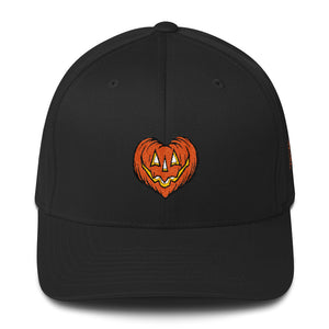 I Love Halloween Embroidered Structured Twill Cap