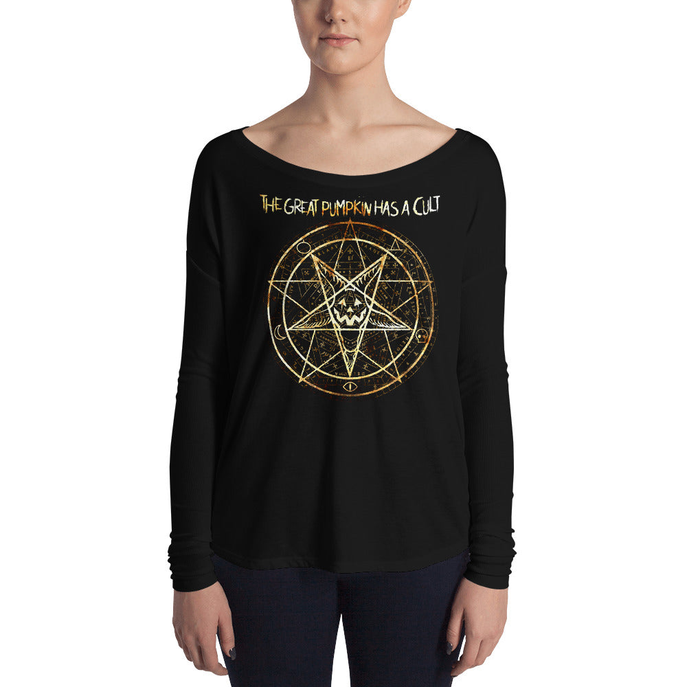 Cult of the Great Pumpkin - Pentagram Ladies' Long Sleeve Tee