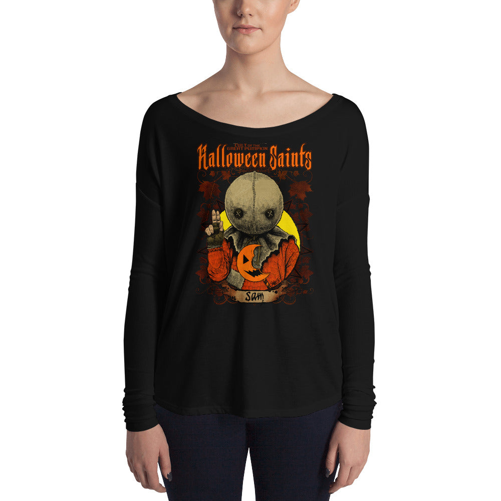 Halloween Saints - Sam Ladies' Long Sleeve Tee
