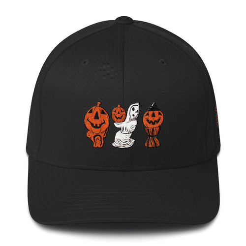 Halloween Blowmold Decorations Embroidered Structured Twill Cap