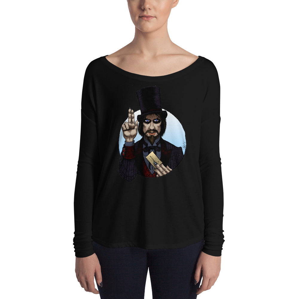 Halloween Saints - ALT - Mr. Dark Ladies' Long Sleeve Tee
