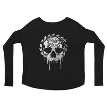 Sinister Visions Splatter Skull Ladies' Long Sleeve Tee