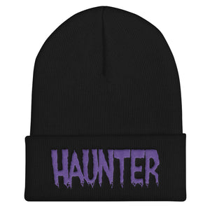 Haunter (Purple) Embroidered Cuffed Beanie