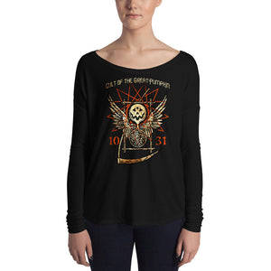 Cult of the Great Pumpkin - Thanatos Hourglass Ladies' Long Sleeve Tee