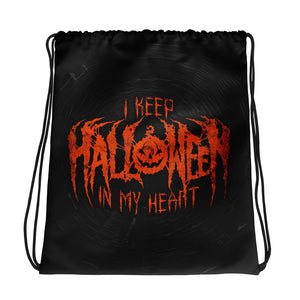 I Keep Halloween In My Heart Drawstring bag