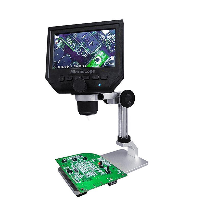 Mustool Digital HD LCD Display Microscope Continuous Magnifier with Aluminum Alloy Stand - Red Hot Exclusive