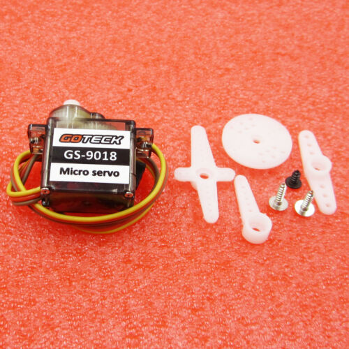 GOTECK GS-9018C Brush Micro Servo 9g 1.5KG for RC Models - Red Hot Exclusive