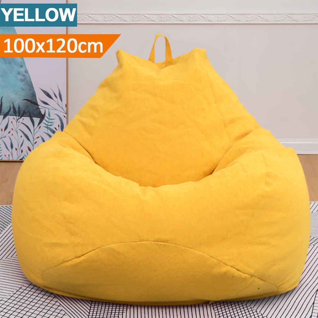 HomeGal Extra Large Bean Bag Chair Cover Lazy Sofa for Indoors and Outdoors - Red Hot Exclusive