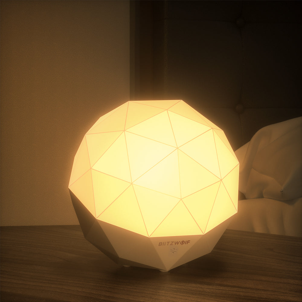 BlitzWolf Diamond Ambient Night Light USB Color Temperature Dimming LED Lamp