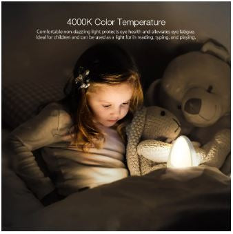 BlitzWolf Night Light Color Temperature Fire Retardant Touch Switch for Kids - Red Hot Exclusive