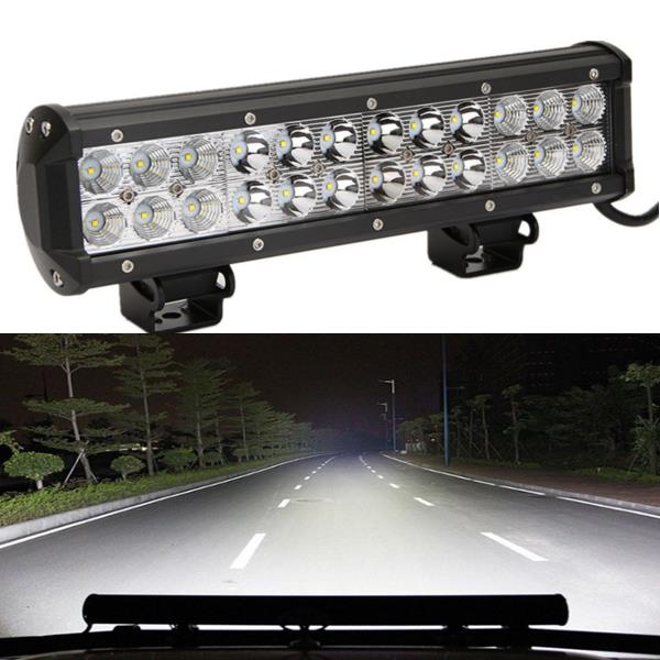 Spark-O Bright Off Road LED Flood Light Bar For Truck/Jeep /SUV 72W 5760LM