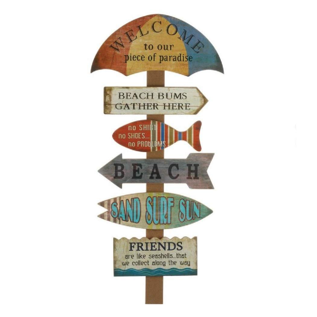 Sea-and-Feel Welcome Beach DYI Wooden Wall Decor Signage for Home or Gifts
