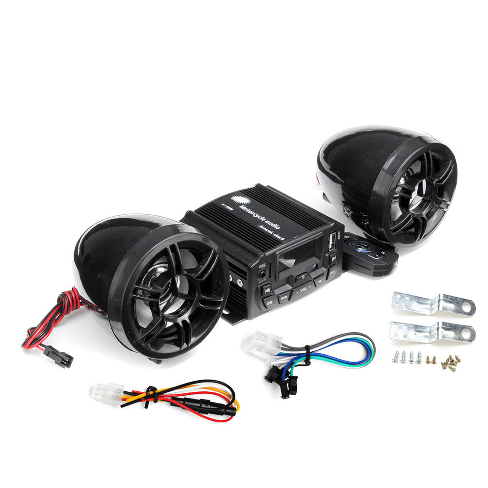 RoadTunes 12V Motorcycle Audio Sound System Speaker With Remote Control