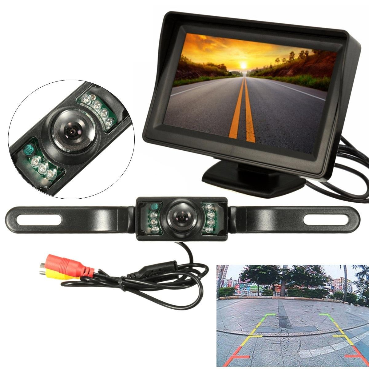 Spark-O LCD Display Rear View Mirror Backup Camera System - Reversing Camera