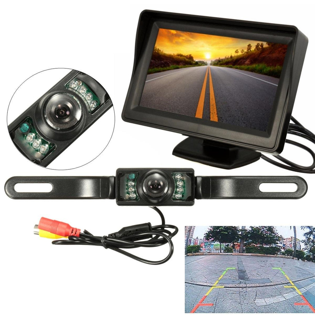 Spark-O LCD Display Rear View Mirror Backup Camera System - Reversing Camera - Red Hot Exclusive