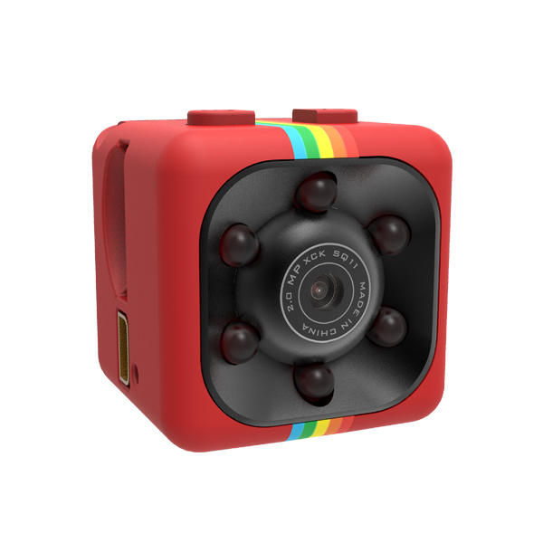HawkEye Mini Night Vision Video Recorder Vlog Sport Camera Support - Red Hot Exclusive