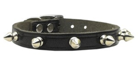 CanineCare Leather Spiked Dog Collar for Shock and Protection