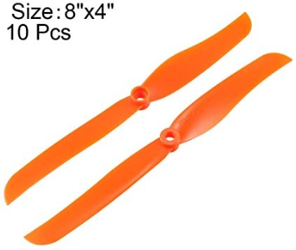 Gemfan 8040 8x4 Direct Drive Propeller for RC Airplanes and Helicopters - Orange - Red Hot Exclusive