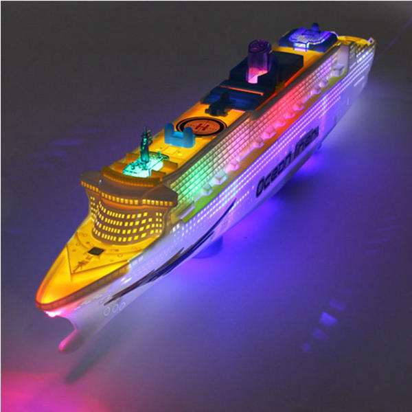 LittleJack's Ocean Liner Cruise Ship Boat Electric Toys with LED Lights and Sounds