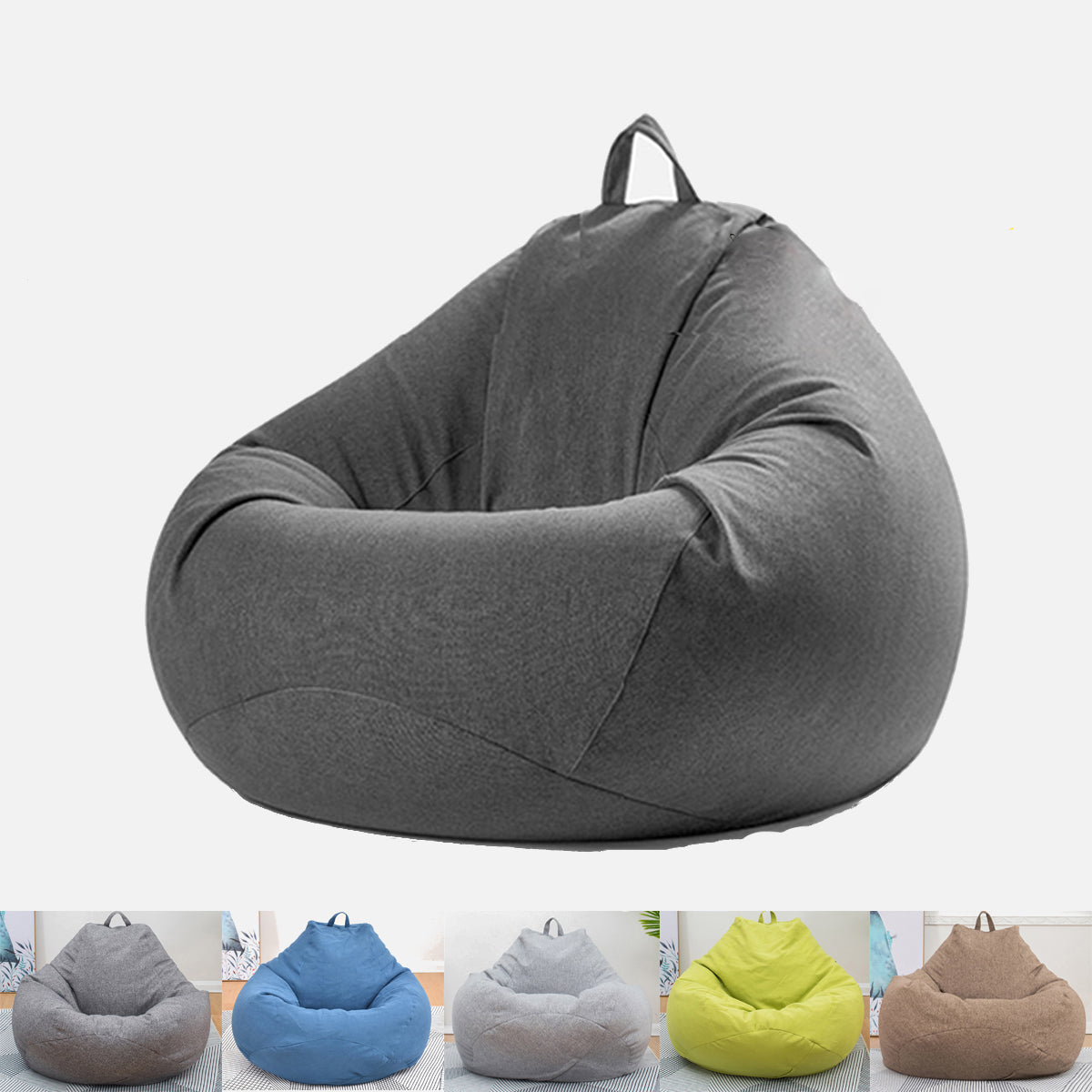 HomeGal Extra Large Bean Bag Chair Cover Lazy Sofa for Indoors and Outdoors