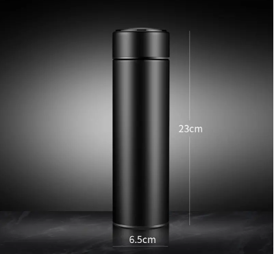 IPRee 500ml Vacuum Thermos LCD Temperature Display Water Bottle Stainless Steel Double Wall Insulated Cup - Red Hot Exclusive