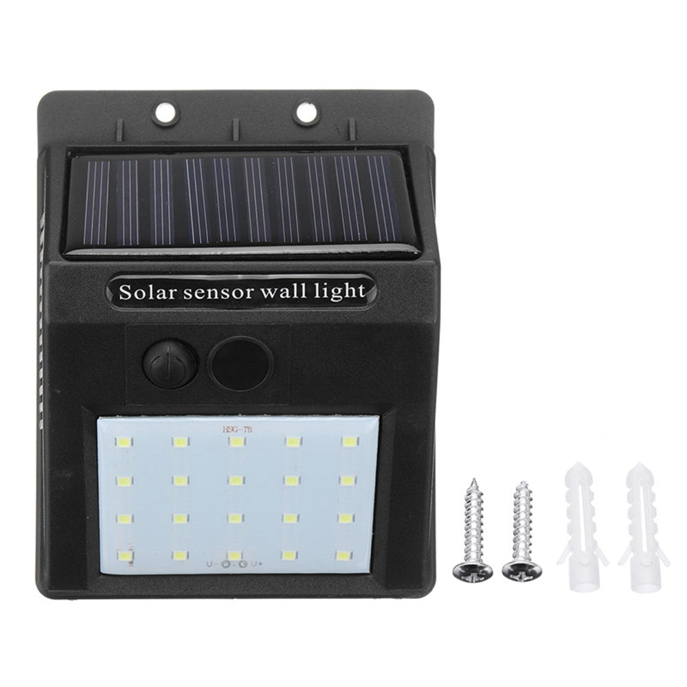 EarthSaverz LED Solar Power Wall Light Outdoor Waterproof Garden Security Lamp with Motion Sensor - Red Hot Exclusive
