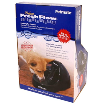 Petmate Deluxe Purifying Pet Fresh Flow Water Fountain - Red Hot Exclusive