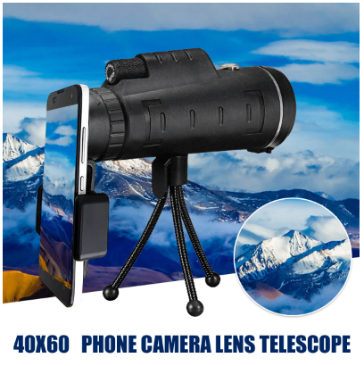 SafariX HD Waterproof 40x60 Zoom Optical Lens Monocular Telescope with Tripod For Outdoor Camping Traveling - Red Hot Exclusive
