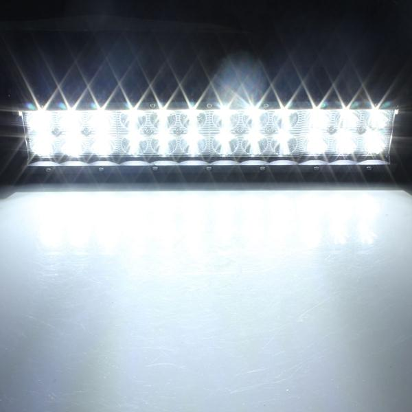 Spark-O Bright Off Road LED Flood Light Bar For Truck/Jeep /SUV 72W 5760LM - Red Hot Exclusive