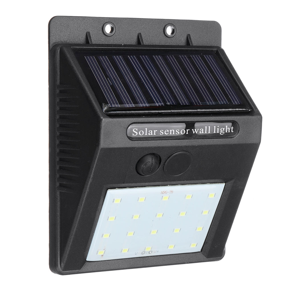 EarthSaverz LED Solar Power Wall Light Outdoor Waterproof Garden Security Lamp with Motion Sensor