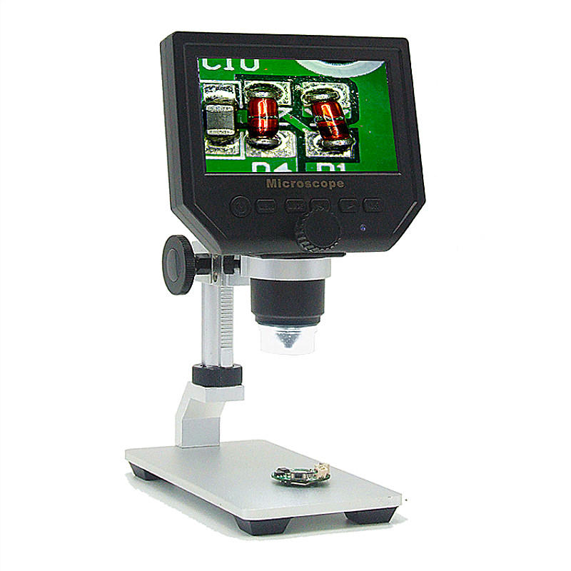 Mustool Digital HD LCD Display Microscope Continuous Magnifier with Aluminum Alloy Stand