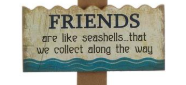 Sea-and-Feel Welcome Beach DYI Wooden Wall Decor Signage for Home or Gifts - Red Hot Exclusive