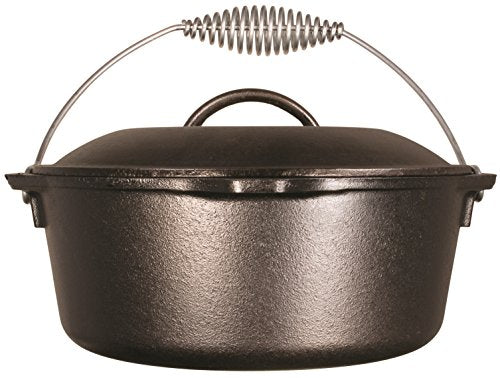 Lodge 10-inch Cast Iron Skillet Dutch Oven Pre-Seasoned 5-Quart