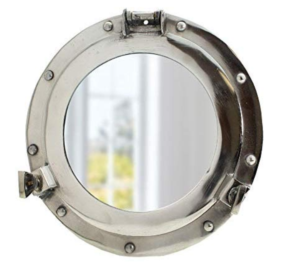 Porthole Glass Aluminum Nautical Coastal Wall Decor Ideas for Living Rooms or Gifts