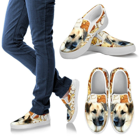 Chinook Dog Print Slip Ons For Women- Express Shipping