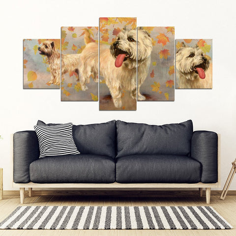 Cairn Terrier Print-5 Piece Framed Canvas- Free Shipping