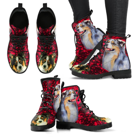 Valentine's Day Special-Australian Shepherd Dog Print Boots For Women-Free Shipping