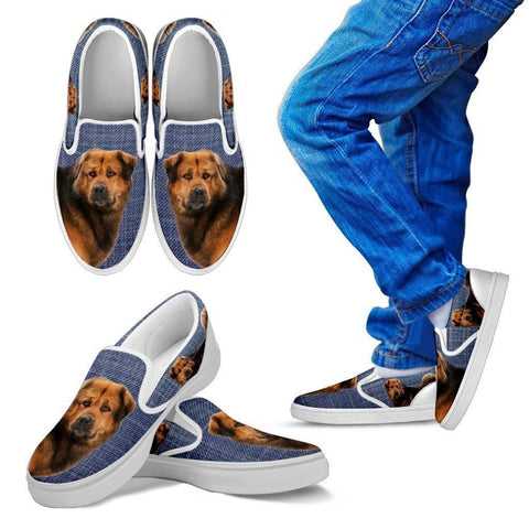 Tibetan Mastiff Dog Print Slip Ons For Kids-Express Shipping