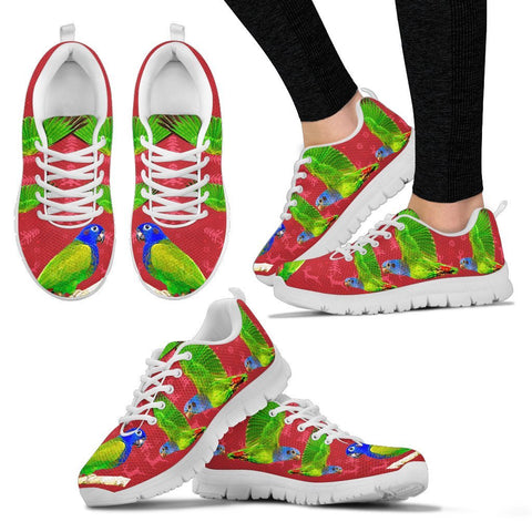 Blue-Headed Parrot Christmas Running Shoes For Women- Free Shipping