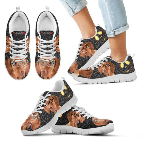 Vizsla Happy Halloween Print Running Shoes For Kids-Free Shipping