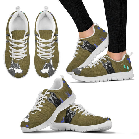 Doberman Pinscher Christmas Running Shoe For Women- Free Shipping