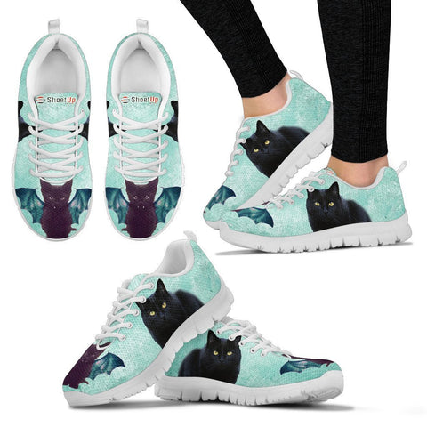 Bombay Cat (Halloween) Print-Running Shoes For Women/Kids-Free Shipping