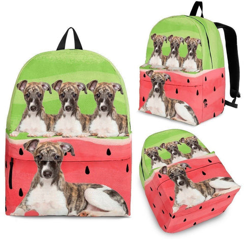 Whippet Dog Print Backpack-Express Shipping