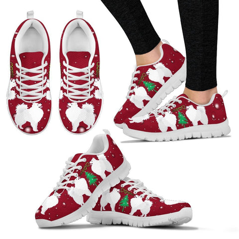 American Eskimo Dog Print Christmas Running Shoes For Women-Free Shipping