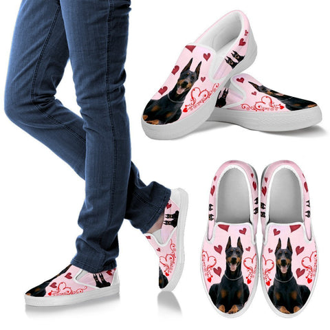 Valentine's Day Special-Doberman Pinscher Print Slip ons For Women-Free Shipping