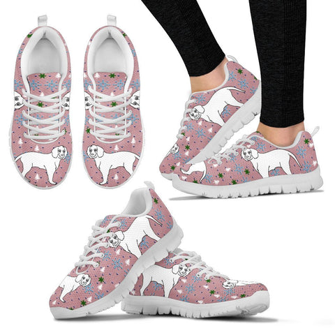 American Water Spaniel2 Dog Print Christmas Running Shoes For Women-Free Shipping