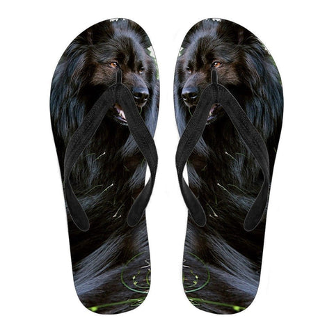 Belgian Sheepdog Flip Flops For Men- Free Shipping