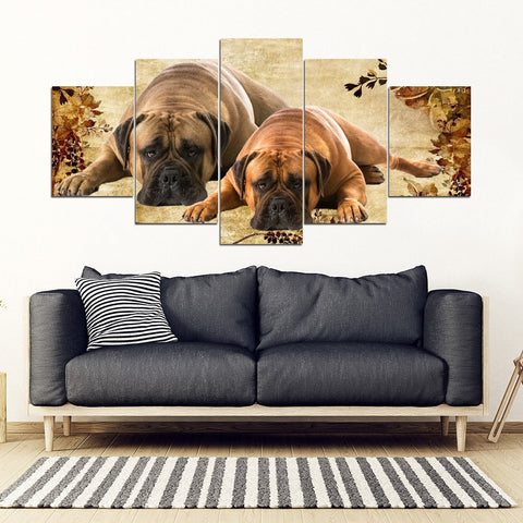 Bullmastiff Print- Piece Framed Canvas- Free Shipping